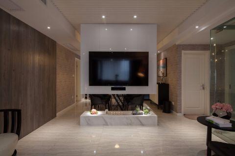 客厅地砖现代简约风格装潢图片