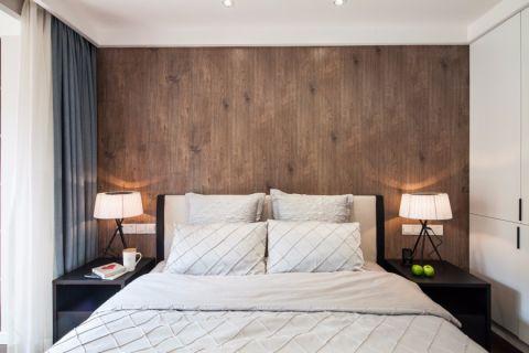 卧室床北欧风格装饰图片