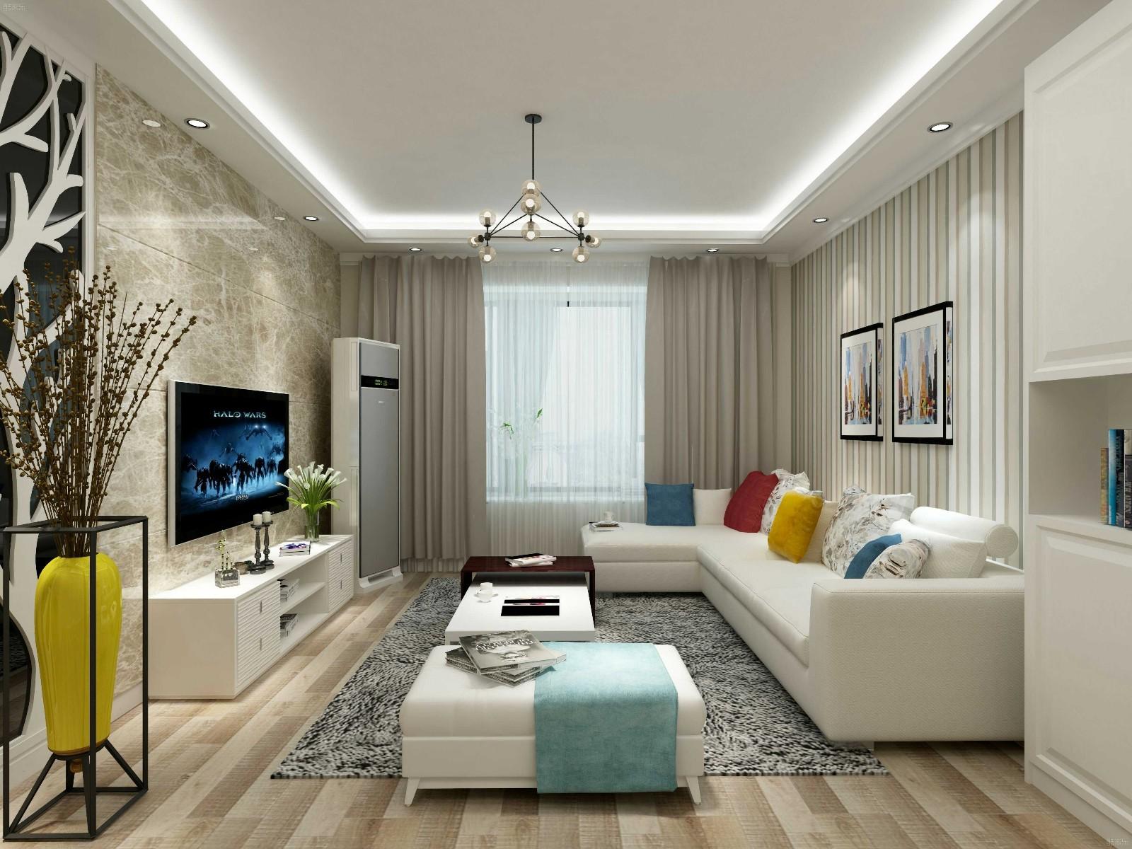2室1卫2厅96平米现代风格