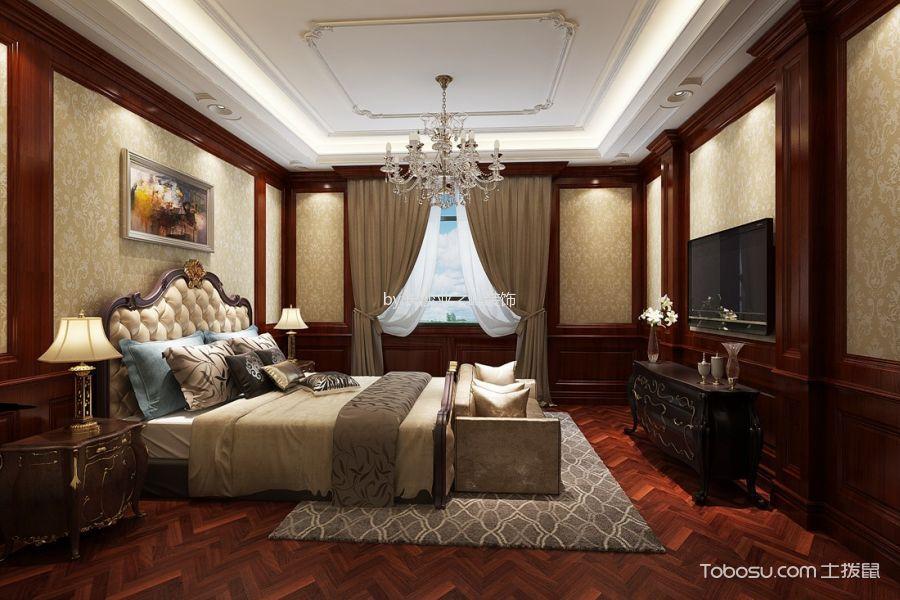 卧室 吊顶_欧式风格235平米大户型室内装修效果图