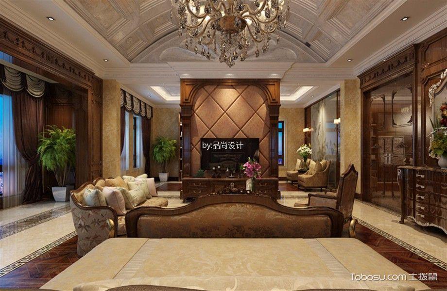 卧室咖啡色电视柜美式风格装饰效果图