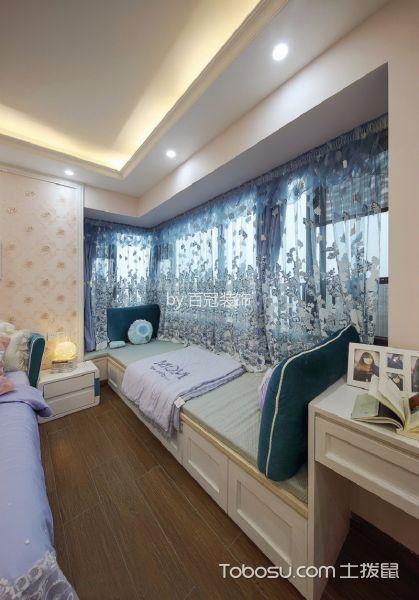 卧室米色榻榻米欧式风格装潢图片