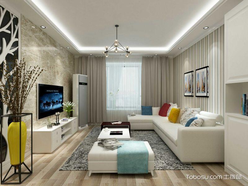 现代风格100平米公寓新房装修效果图