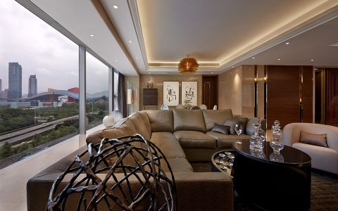 客厅茶几后现代风格装饰图片