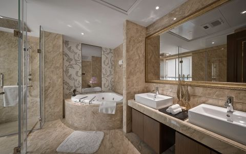 浴室浴缸后现代风格装潢图片