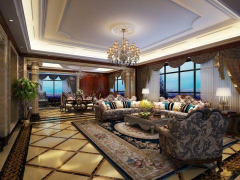 欧式风格235平米大户型室内装修效果图