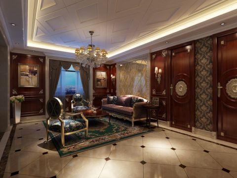 客厅茶几欧式风格装修设计图片