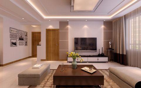 现代简约风格120平米三居室新房装修效果图