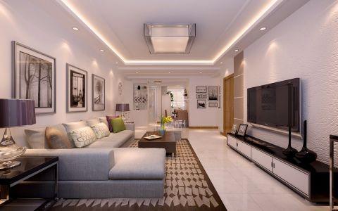 客厅吊顶现代简约风格效果图