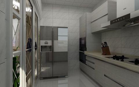厨房推拉门简欧风格装修设计图片