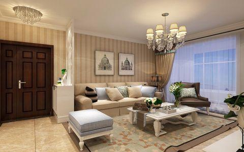 客厅茶几简欧风格装饰效果图
