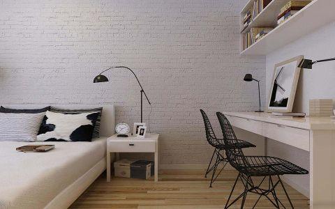 卧室地板砖现代简约风格装潢效果图