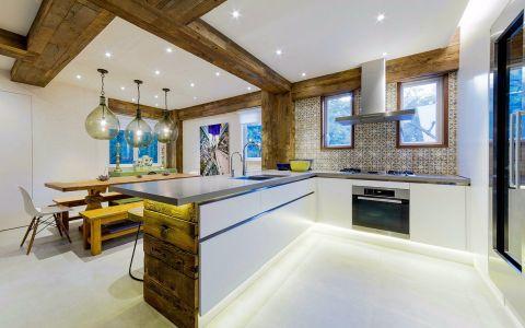 厨房背景墙混搭风格装潢图片