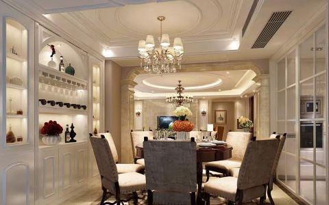 餐厅吊顶简欧风格装潢图片
