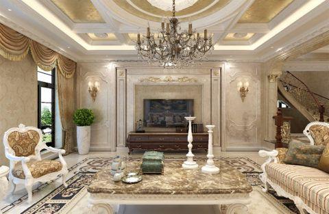 客厅楼梯欧式风格装饰图片