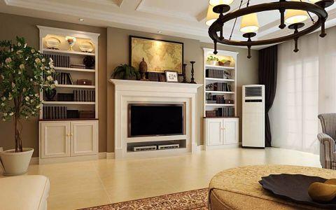 美式风格92平米两室两厅新房装修效果图