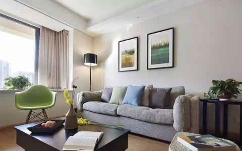 现代简约风格82平米两室两厅新房装修效果图