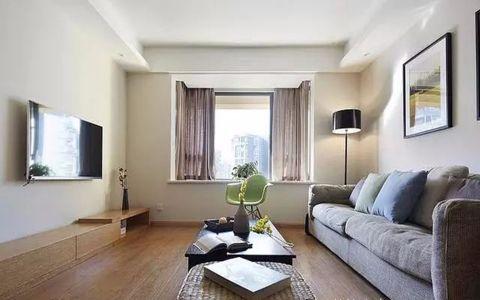 客厅地板砖现代简约风格装饰效果图