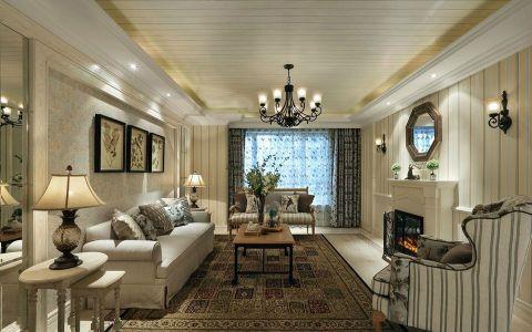 田园风格140平米三室两厅新房装修效果图