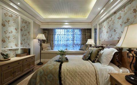 卧室飘窗田园风格装饰效果图