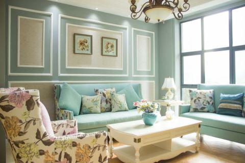 法式风格100平米三室两厅新房装修效果图