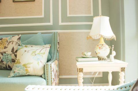客厅背景墙法式风格装饰图片