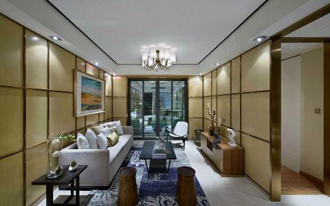 津京一号120平米后现代三居室装修效果图
