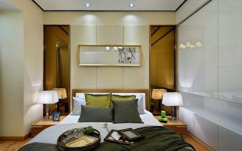 卧室背景墙后现代风格装修图片