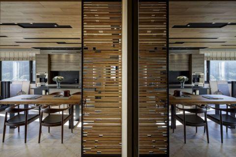 餐厅隔断现代简约风格装潢图片