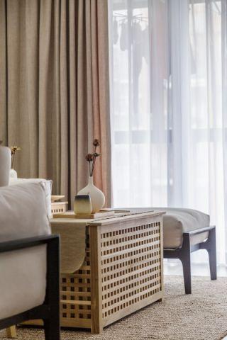 客厅窗帘日式风格装潢设计图片
