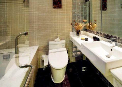 卫生间洗漱台简约风格装潢设计图片