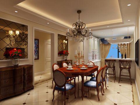 餐厅餐桌美式风格装饰图片