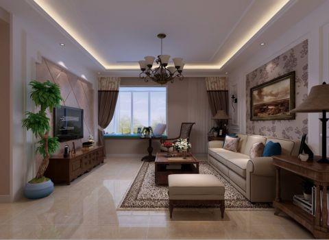 美式风格165平米三室两厅新房装修效果图