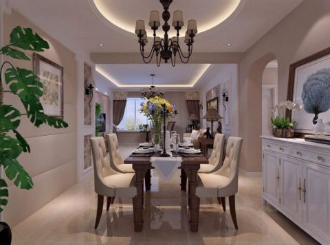 餐厅餐桌美式风格效果图
