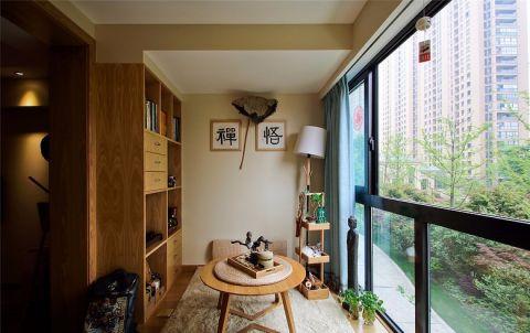 阳台窗帘新中式风格装修效果图