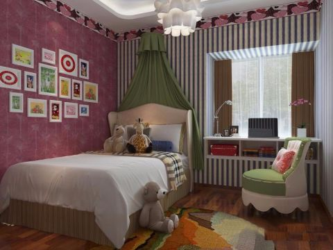 儿童房照片墙中式风格效果图