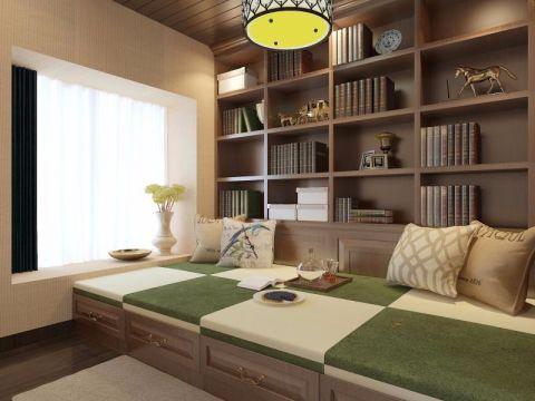 书房榻榻米美式风格装修图片