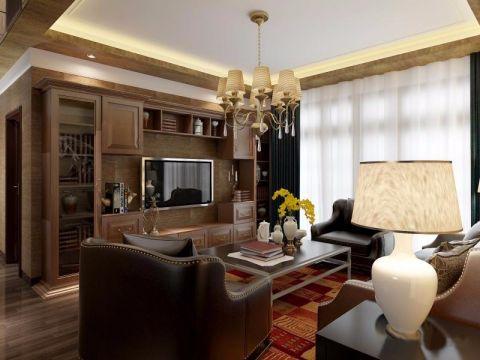 首创悦山郡120平米美式风格三居室装修效果图
