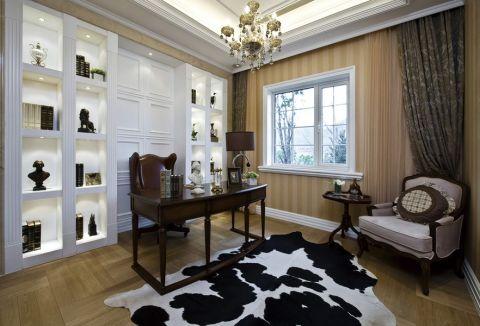 书房窗帘新古典风格装潢效果图
