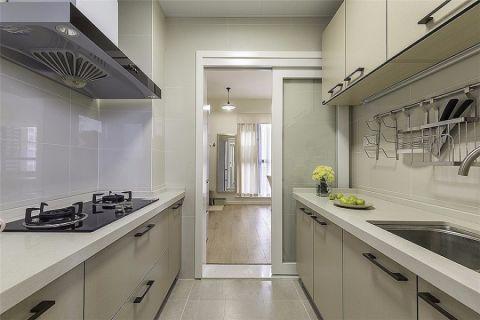 厨房推拉门现代简约风格装修设计图片