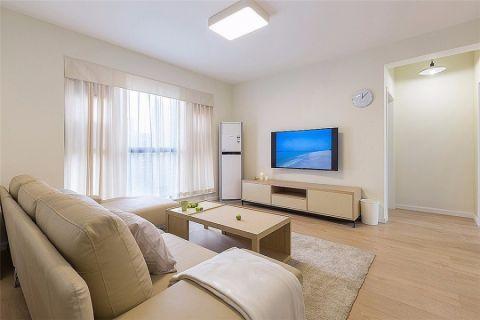 现代简约风格90平米两室两厅室内装修效果图