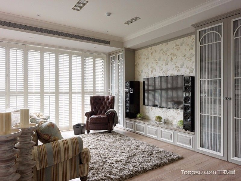 欧式风格120平米三室两厅新房装修效果图