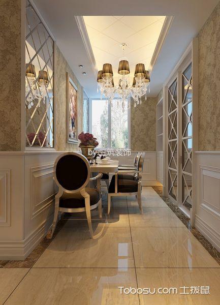餐厅黄色地砖欧式风格装饰图片