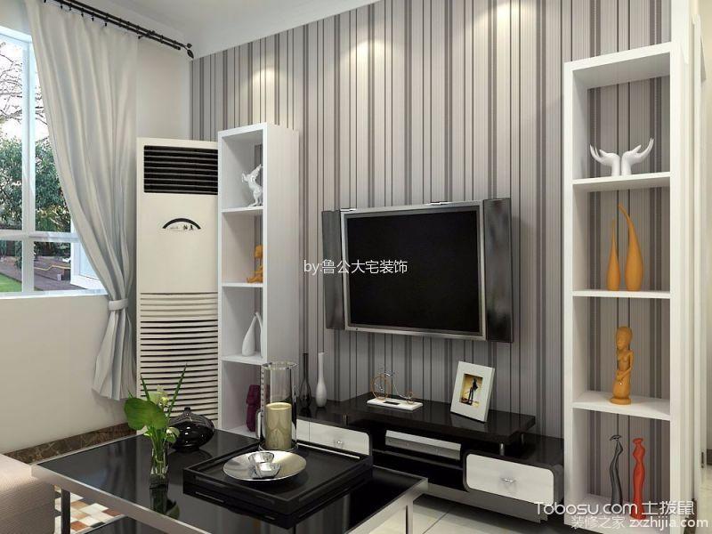客厅 窗帘_现代简约风格92平米两室两厅室内装修效果图