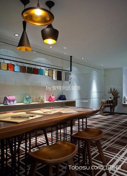 餐厅白色吊顶后现代风格装潢设计图片