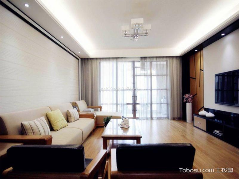 现代简约风格81平米两室两厅新房装修效果图
