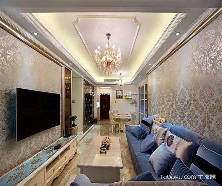 简欧风格122.6平米三室两厅新房装修效果图