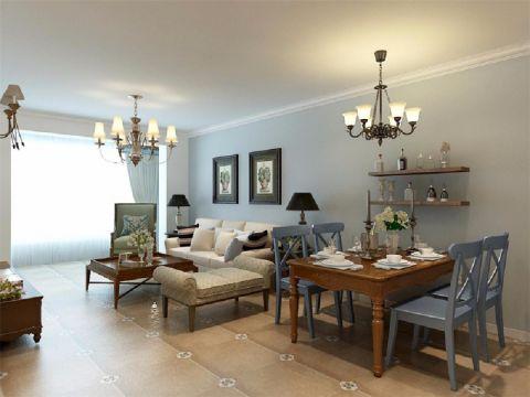 客厅吊顶美式风格装修图片