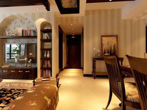 客厅走廊美式风格装潢效果图