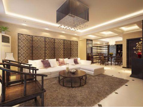新中式风格135平米大户型室内装修效果图